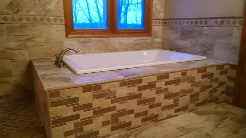 Ceramic Tile Installation on Bathtub Deck