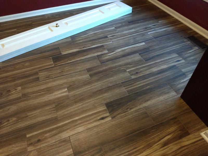Recent Wood Look Ceramic Tile Installation