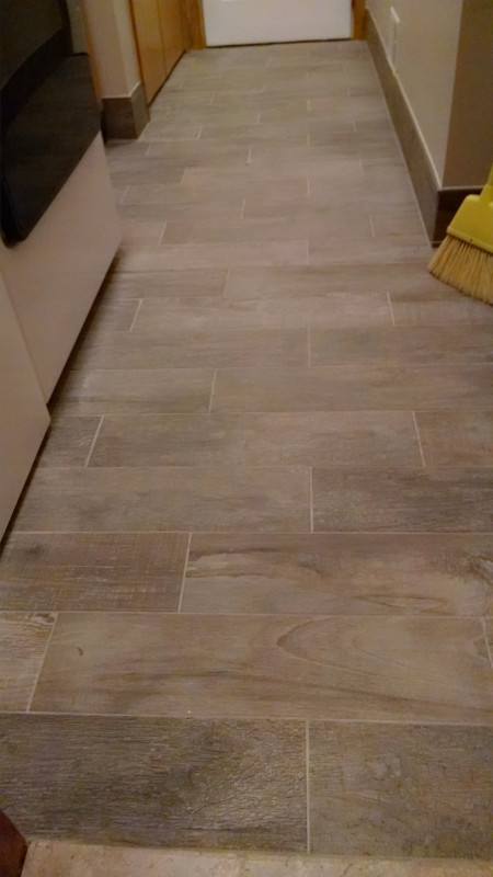 Ceramic Tile Installation in a Laundry Room